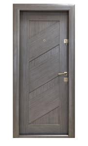 Usa exterior metalica, gri, stanga, plina, 88 x 201 x 7.5 cm • Arta Door Arhitect 412