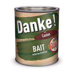 Bait pentru interior si exterior Danke, 0.75 l, culoare castan Danke