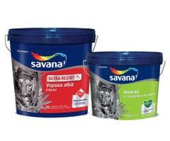 Vopsea lavabila teflon 25 l + amorsa antimucegai 10 l • Savana