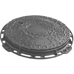 Capac rotund pentru canal, din fonta ductila, 50 x 50 x 3 cm
