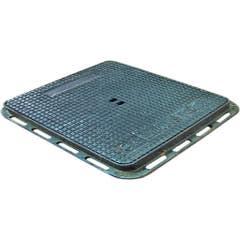 Capac patrat pentru canal, din fonta ductila, 30 x 30 x 2.5 cm