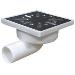 Minisifon vertical pentru podea, 10 x 10 cm