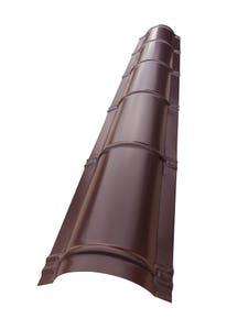 Coama rotunda nervurata, maro, RAL 8017, lungime 2, grosime 0.45 mm • Bravo