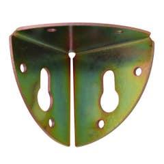 Coltar fixare mobila, 37 x 37 mm, zincat galben