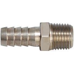 Adaptor din alama pentru furtun, diametru 10 mm, racord 1/4 mama