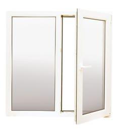 Fereastra PVC, termopan, alb, 3 camere, 100 x 100 cm, deschidere dreapta