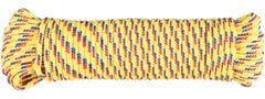 Cordelina PP, grosime 4 mm, lungime 20 m, galben multicolor • Evotools