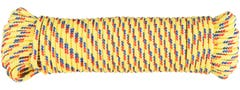 Cordelina PP, grosime 6 mm, lungime 20 m, galben multicolor • Evotools