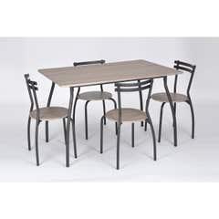 Set masa Vega cu 4 scaune stejar antichizat, masa: 120x80x76cm, scaun: 40x44x75cm