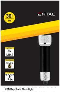Lanterna Breloc LED 1W, Negru • Entac