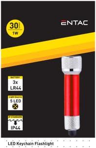 Lanterna Breloc LED 1W, Rosu • Entac