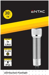 Lanterna Breloc LED 1W, Argintiu • Entac