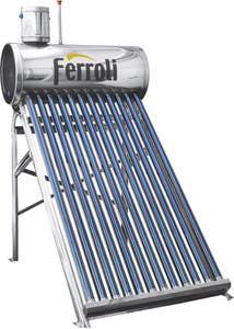 Panou solar nepresurizat Ecosole Ferroli, inox, 150 L