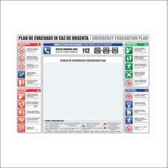 Indicator Plan Evacuare 30X40cm Bi • Retail Solutions