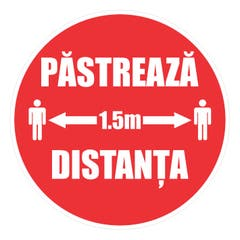 Indicator Pastreaza Distanta 1.5M • Creative Sign
