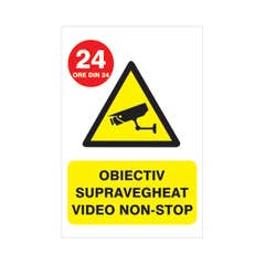 Indicator Supraveghere Video Non Stop • Creative Sign