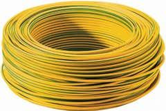 Cablu MYF, verde galben, 1 x 1.5 mmp, 10 m