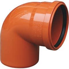 Cot canalizare PVC, unghi 45 110 mm