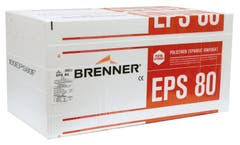 Placa Polistiren expandat Brenner 1 m x 0.5 m x 30 mm, eps 80