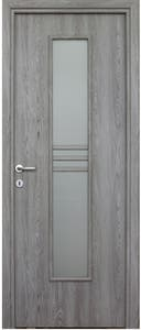 Usa interior reversibila, gri, geam, MDF, 68 x 203 cm • Karpat