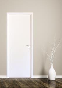 Usa interior reversibila, alb, plina, MDF , 78 x 203 cm • Wdeco