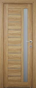 Usa de interior reversibila, stejar, geam, 203 x 88 cm • Siret