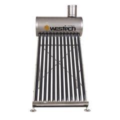 Panou solar nepresurizat Westech, inox, 15 tuburi, 175 L