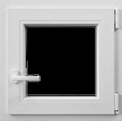 Fereastra PVC, alb, 4 camere, 56 x 56 cm, deschidere dublă dreapta