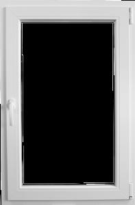 Fereastra PVC, alb, 4 camere, 56 x 86 cm, deschidere dubla dreapta