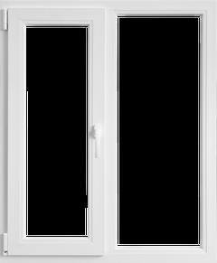 Fereastra PVC, alb, 4 camere, 116 x 116 cm, deschidere dubla stanga