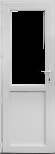 Usa PVC alb, 88 x 195 cm, dreapta