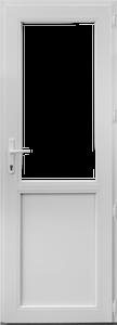 Usa PVC alb, 88 x 195 cm, stanga
