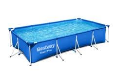 Set piscina cu cadru metalic, dreptunghiulara, 400 x 211 x 81 cm, volum 5700 L