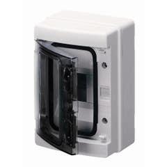 Cutie de siguranta aplicabila Gewiss, 4 posturi, IP 65 alb
