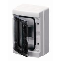 Cutie de siguranta aplicabila Gewiss, 8 posturi, IP 65 alb