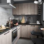 Bucatarie modulara gri, configuratie 180 cm • Chia