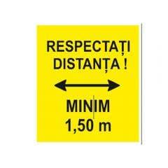 IND RESPECTATI DIST MIN 1.50M 20CMX30CM