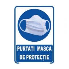 INDIC PURTATI MASCA DE PROTEC 20CMX30CM