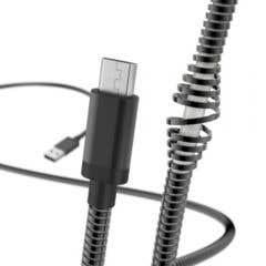 """Cablu de Incarcare/date """"Metal"""", Micro-USB, 1.5 m, negru • Hama"""