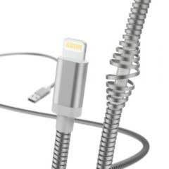 """Cablu de Incarcare/date """"Metal"""", Lightning, 1.5 m, silver • Hama"""