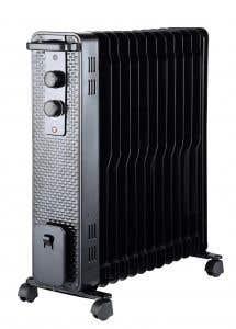 Radiator electric, 3000 W, 635 x 250 mm, negru, 13 elementi