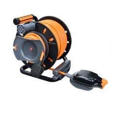 Prelungitor cu tambur retractabil 25 m h05vvf 3g1,5 mm2 cablu portocaliu tambur din plastic