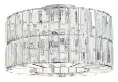 Plafoniera crom, 3 x 40W, G9, metal si sticla • Parcae