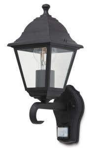 Lampa exterioara cu senzor 1 x 60 W, 19 x 14 x 31 cm, negru • Blooma Varennes