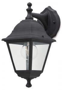 Lampa exterioara 1 x 60 W, 19 x 14 x 31 cm, negru • Blooma Varennes