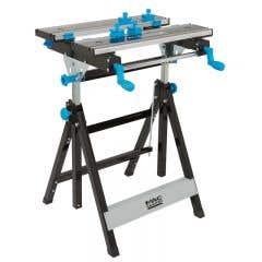 Masa de lucru MacAllister, pentru mobila, din otel si aluminiu, 60 x 55 x 77.5-107.5 cm