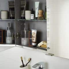 Dulap suspendat cu oglinda, alb, 90 x 80 x 15 cm - Imandra