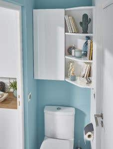 Etajera colt, alba, 90 x 34 x 36  cm- Imandra