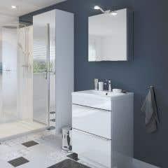 Dulap suspendat cu oglinda, alb, 90 x 60 x 36 cm - Imandra