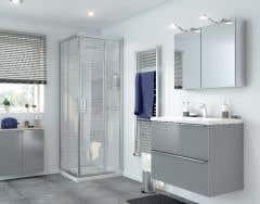 Dulap suspendat cu oglinda, alb, 80 x 60 x 15  cm- Imandra